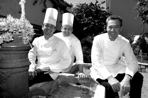 Les chefs Rochat, Saguer et Hug
